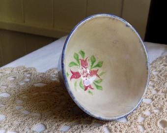 Tiny Vintage Shabby Patina Crazed Finish Dish ~ Little Bowl