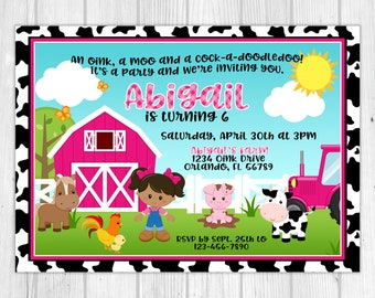 Farm Girl Birthday Invitation