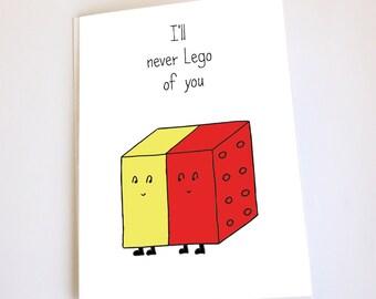 Lego card, Love, Valentines Day, Anniversary, Birthday, Funny