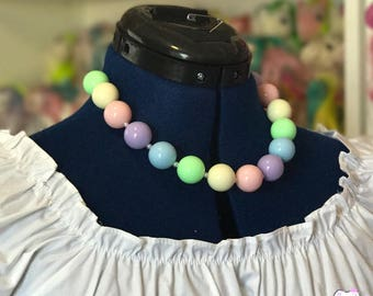 Faux Gumball Necklace