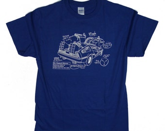S - 5XL > Back To The Future inspired T-Shirt for men > Blueprint