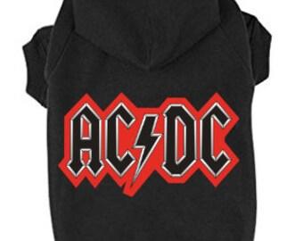 AC/DC Dog Hoodie