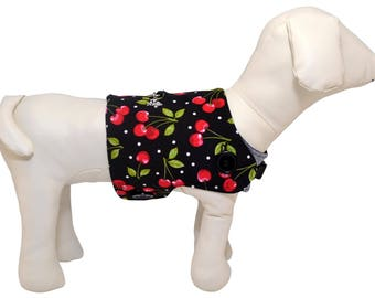 Cherry Stems and Dots Dog Vest