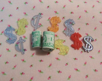 tiny novelty dollars and cents toys