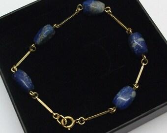 Gold-plated bracelet sodalite Chakrastein SA107