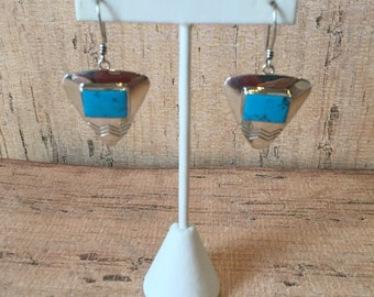 Southwestern Navajo Turquoise and Sterling Silver earrings