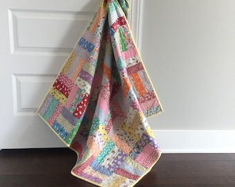 Homemade Baby Quilts ~ Patchwork Quilt ~ Baby Quilt ~ Stroller Quilt ~Tummy Time Quilt ~ Ready to Ship