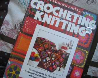 Better Homes & Gardens Crocheting and Knitting, 70's Instructional Book