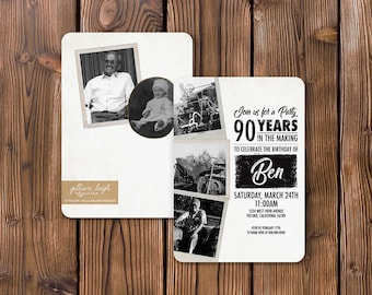 90th Birthday Celebration Invitation