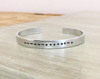 Mother morse code cuff bracelet, Mother's Day gift, mom gift, mom jewelry, gift for mom, mom bracelet, gift for new mom, morse code jewelry