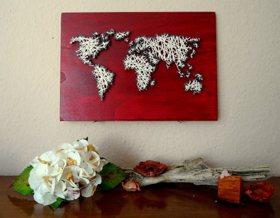 String art world map decal small world map world map like this item gumiabroncs Gallery