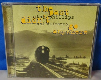 """052318 01 Used Utah Phillips & Ani DiFranco """"The Past Didn't Go Anywhere"""" CD Babe Records RBR009-D"""