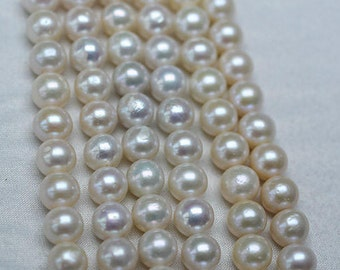 11-13mm edison pearls necklace strand 3A grade perfect round