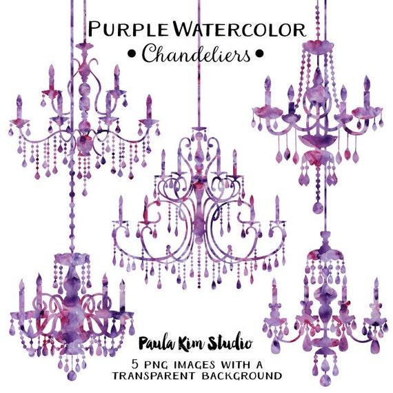 Purple chandelier watercolor clipart silhouettes chandelier aloadofball Gallery