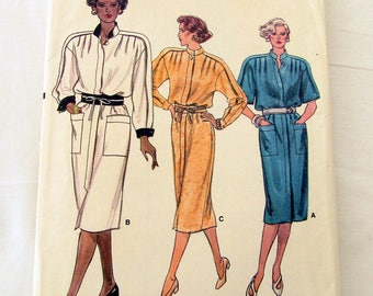 Vogue Pattern #9378 Misses Size 14, Straight Dress
