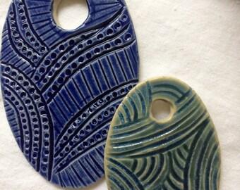 Ceramic jewelry,handmade beads,ceramic pendant necklace,pottery beads,jewelry stoneware,clay beads,jewelry supplies,clay medallions,
