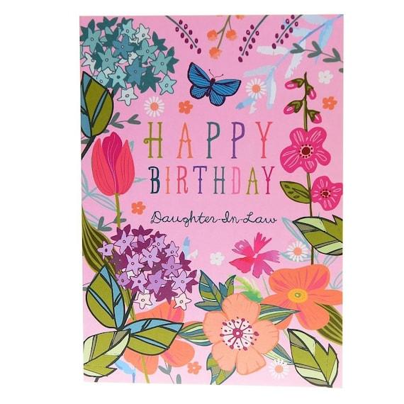 Happy Birthday Daughter In Law Birthday Card For