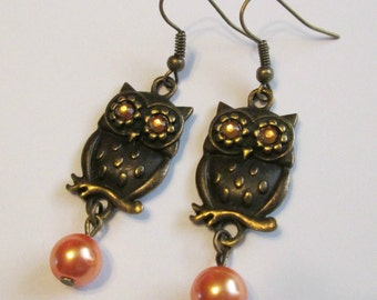 "Earrings - Autumn - Owls - Charming Style ""Owl Be Seeing You"""
