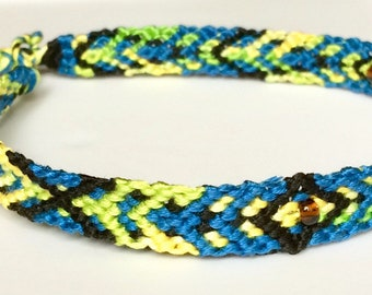 Summer Surf Handwoven Bracelets/Anklets with Amber Beads
