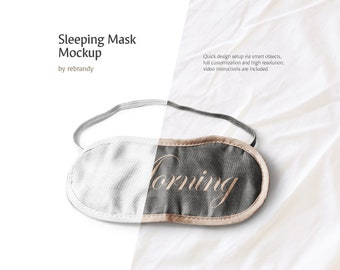 Sleeping Mask Mockup (Eye Mask Mockup, Sleep Eye Mask, Blindfold Mock up)