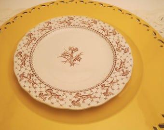 Brownfield \u0026 Sons Harvard Brown Transferware Collector\u0027s Plate - Antique Plate - 1800\u0027s - Brown Floral  sc 1 st  Etsy & Brown toile plate | Etsy