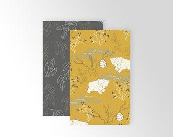 CUSTOM Pocket Journal Set - Stationery - Cute Notebooks - Bullet Journal - Pattern Notebooks - Dot Grid Notebook - Lined Notebook - Book