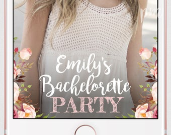 Bachelorette Party Snapchat Geofilter, floral Geofilter, On Demand Geofilter, Floral Personalized Geofilter for Bachelorette Party