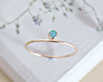 Opal Ring, Solid Gold Opal Ring, October Birthstone, Opal Jewelry, Gemstone Ring, Dainty Ring, Gold Stacking Rings, 9ct Gold Ring