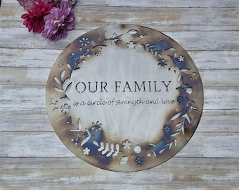 Steel Anniversary Gift, 11th Anniversary, Anniversary Gift fo her, gifts for him, Family Quote Sign, Wedding Anniversary, Outdoor Quotes