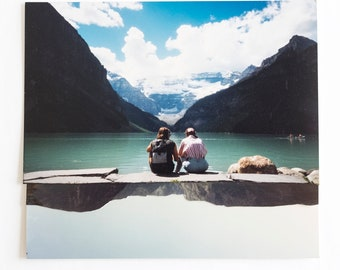 Lake Louise - handmade collage of vintage photographs
