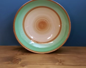 Shelley Harmony Ware Bowl in Green and Brown c1930s