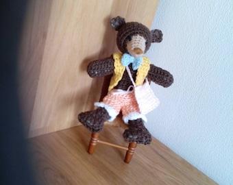 Amigurimi bear. Handmade crochet handmade