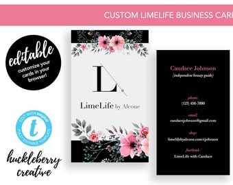 Beauty business card etsy limelife formerly limelight business cards template limelife beauty guide 35x2 colourmoves