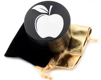 """Apple Laser Etched Design 2.5"""" Large Size Herb Grinder Item # ETCH-G013017-58"""