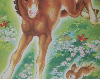 Vintage Ruth Newton Nursery Rhyme Book Print-Baby Colt