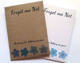 Handmade Forget me Not Seeds Teacher Gift End Term Thank you