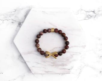 Purple Gemstone Bracelet, Beaded Stacking Bracelet, Gold Bracelet, Beaded Bracelet, Boho Bracelet, Gifts for her, Modern Stacking Bracelet,