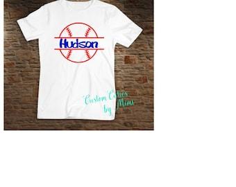 Personalized baseball t-shirt, custom summer baseball shirt,