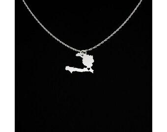 Haiti Necklace - Country Jewelry - Haiti Gift - Haiti Jewelry