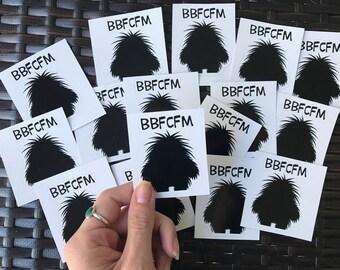 """Phish BBFCFM Sticker 2""""x2"""" Glossy Vinyl"""