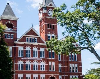 Samford Hall, Auburn University, Auburn Alabama, SEC, College, home decor, dorm decor, graduate gift, alumni gift, free shipping, war Eagle