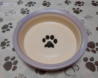 SALE!!! Paw Print Bowl in Lilac (Large)