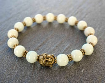 Mens Buddha bracelet Mens yoga bracelet Men wrist jewelry Buddha beaded bracelet Zen mala bracelet Meditation beads Positive energy bracelet