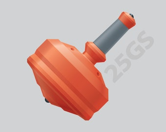 """Leap 25GS with Silicon Ceramic Tips and Grip Color Option – 1"""" Orange Polymer Spin Top"""