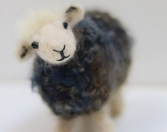 Sheep needle felting kit Herdwick sheep needle felting kit for beginners Herdwick sheep gift