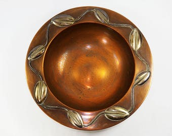 Copper and Silver Bowl