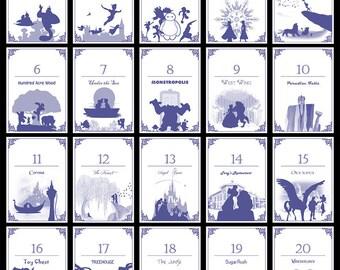 Disney-themed Table Numbers (Set of 20) - Digital/Self-Print