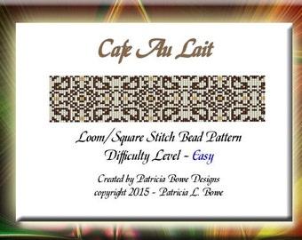 Bead Loom Pattern, Bracelet Pattern, Loom Pattern, Beaded Lace Pattern, Cafe Beading Pattern, Loom Bracelet, Lace Bead Pattern, PDF Download