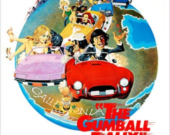 The Gumball Rally Movie Poster Outrageous Road Race Michael Sarrazin 24x36