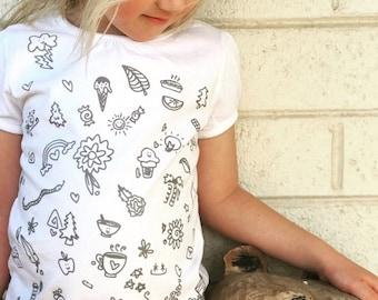 Happy Doodles Kids Tshirt girls